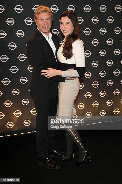 MUNICH GERMANY JANUARY Alexandra Polzin and husband Gerhard Leinauer attend the presentation and vernissage of the calender 'THE ADAM BY BRYAN ADAMS'...