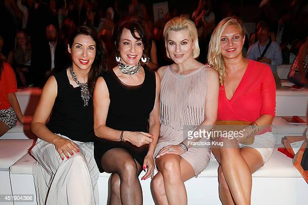 Alexandra Polzin Anna Maria Kaufmann Kriemhild Siegel and Magdalena Brzeska attend the Minx by Eva Lutz show during the MercedesBenz Fashion Week...