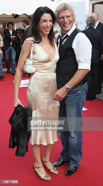 Alexandra Polzin arrives with a guest for the Movie Meets Media Night at the Discotheque P1 on June 24 2007 in Munich Germany