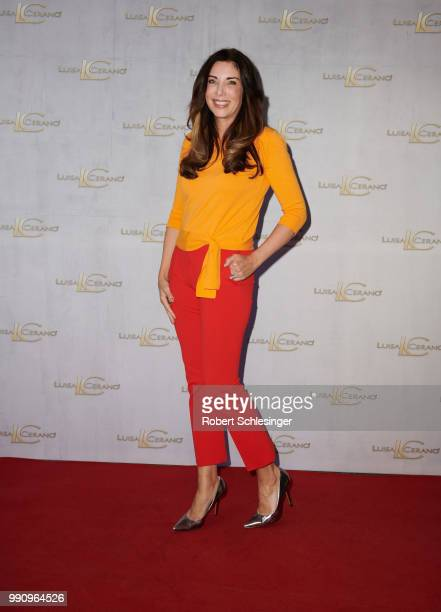 Alexandra Polzin attends the 20 years event of Luisa Cerano at St Agnes Church on July 3 2018 in Berlin Germany