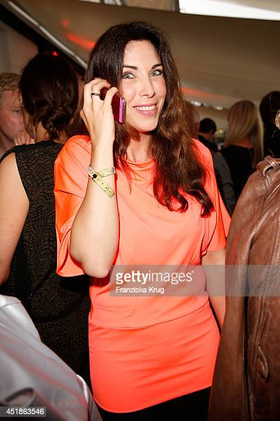 Alexandra Polzin attends the Arqueonautas Presents Kevin Costner Music Meets Fashion at Spindler Klatt on July 08 2014 in Berlin Germany