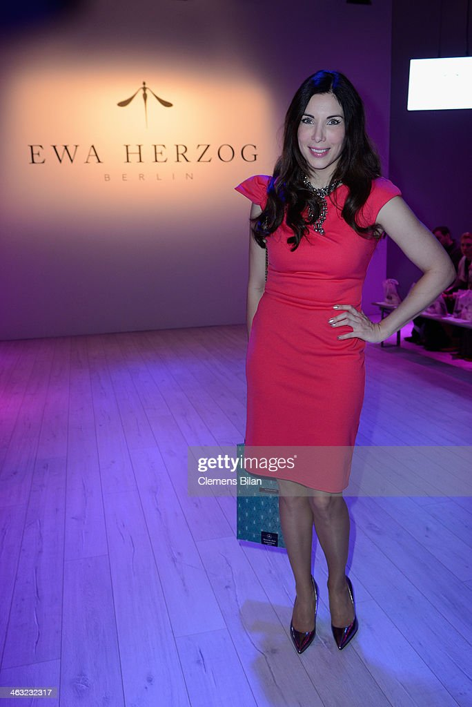 Alexandra Polzin attends the Ewa Herzog show during Mercedes-Benz Fashion Week Autumn/Winter 2014/15 at Brandenburg Gate on January 17, 2014 in Berlin, Germany.