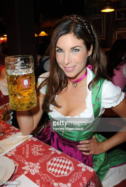 Alexandra Polzin attends the Oktoberfest beer festival at Hippodrom on September 23 2012 in Munich Germany