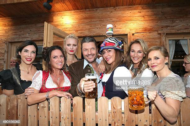 Alexandra Polzin, Christine Neubauer, Franziska Knuppe, Simone Thomalla, Hardy Krueger jr. , Caroline Beil and Regine Halmich attend the Aigner Wiesn...