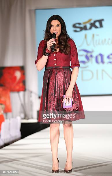 Alexandra Polzin during the SIXT fashion dinner at Nockherberg on March 24 2015 in Munich Germany