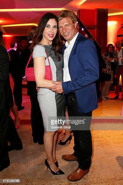 Alexandra PolzinLeinauer and Gerhard Leinauer during the Genlemen Style Night at Hotel Vier Jahreszeiten on May 13 2015 in Munich Germany