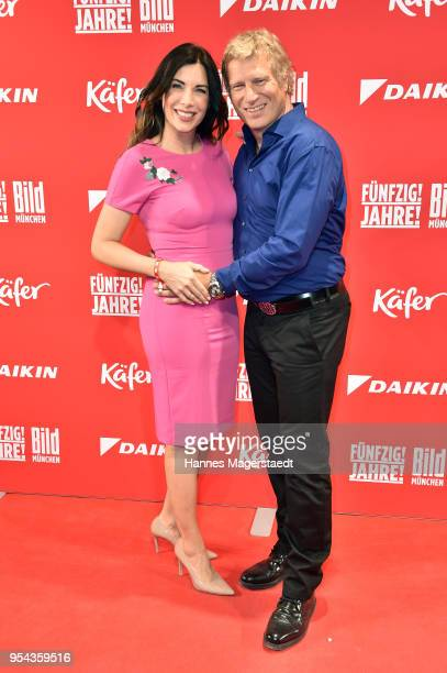 Alexandra PolzinLeinauer and her husband Gerhard Leinauer attend the BILD Muenchen Newspaper 50th anniversary party at MTTC IPHITOS on May 3 2018 in...