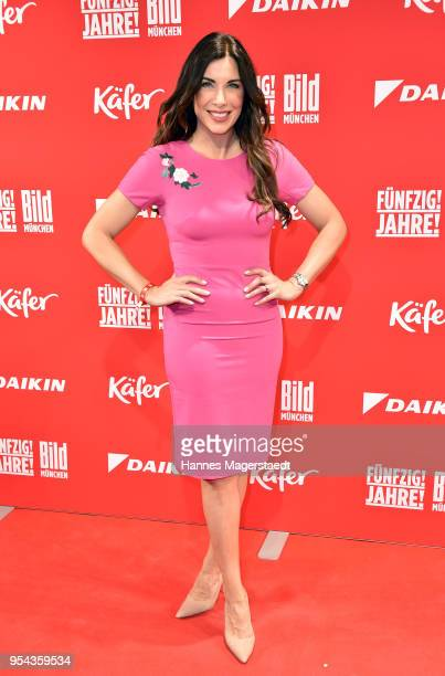Alexandra PolzinLeinauer attends the BILD Muenchen Newspaper 50th anniversary party at MTTC IPHITOS on May 3 2018 in Munich Germany