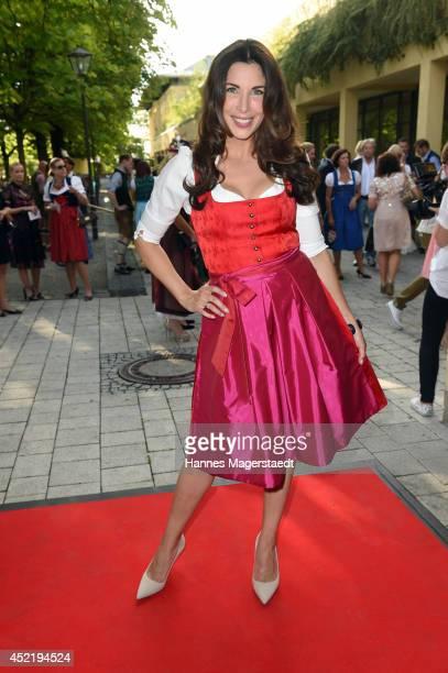 Alexandra PolzinLeinauer attends the Sixt ladies dirndl dinner on July 15 2014 in Munich Germany