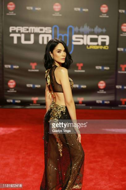 Alexandra Pomales arrives to Premio Tu Musica Urbano at Coliseo Jose M Agrelot on March 21 2019 in San Juan Puerto Rico
