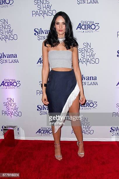 Alexandra Pomales attends premiere of new Telemundo productions Silvana Sin Lana Sin Senos Si Hay Paraiso and Senora Acero 3 La Coyote at Conrad...
