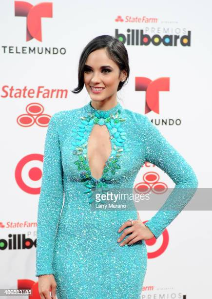 Alexandra Pomales attends the 2014 Billboard Latin Music Awards at Bank United Center on April 24 2014 in Miami Florida