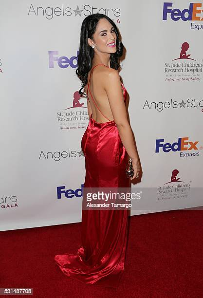 Alexandra Pomales is seen arriving to the St Jude Angels and Stars Gala on May 14 2016 in Miami Florida