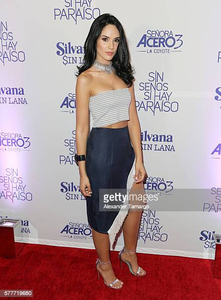 Alexandra Pomales is seen attending Telemundo's 'MARTRES' event at the Conrad Hotel on July 19 2016 in Miami Florida