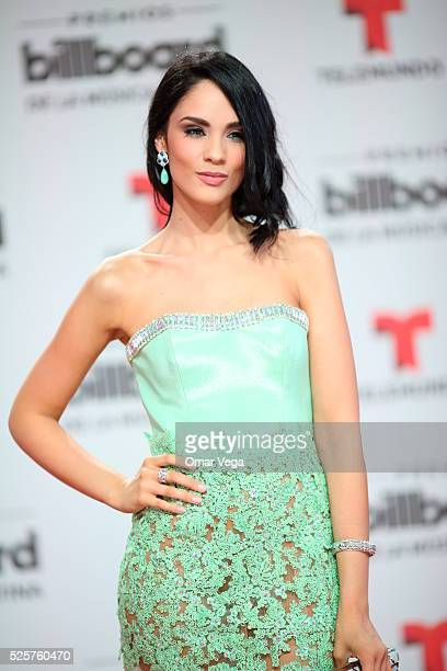 Alexandra Pomales poses during the red carpet of Billboard Latin Music Awards 2016 at Bank United Center on April 28 2016 in Miami United States