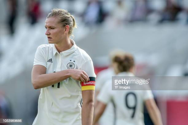 Alexandra Popp of German Women National looks on during the women friendly match between Germany and Austria on October 5 2018 in Essen Germany