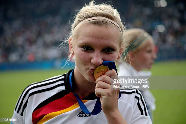 Alexandra Popp of Germany celebrates after winning the FIFA U20 Women's World Cup Final match between Germany and Nigeria at the FIFA U20 Women's...