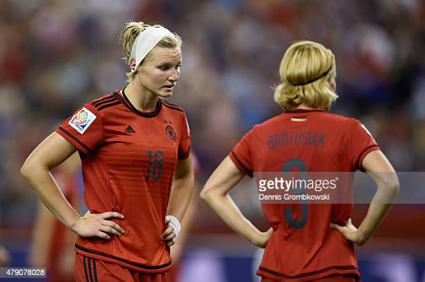 Alexandra Popp of Germany looks dejected in the FIFA Women's World Cup 2015 SemiFinal Match at Olympic Stadium on June 30 2015 in Montreal Canada