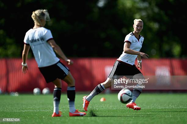 Alexandra Popp of Germany practices during a training session at Stade de Montreal on June 24 2015 in Montreal Canada