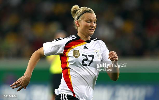 Alexandra Popp of Germany runs during the Women's International Friendly match between Germnay and Canada at Rudolf Harbig stadium on September 15,...