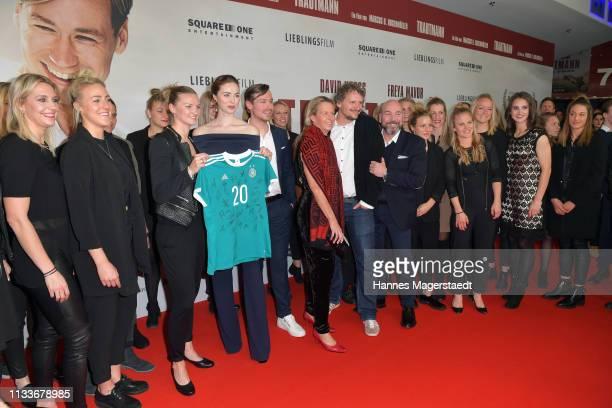 Alexandra Popp of Germany women's soccer team actress Freya Mavor David Kross Martina VossTecklenburg Marcus H Rosenmueller Al Munteanu and the...
