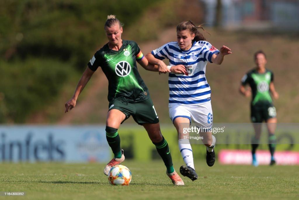 MSV Duisburg v VfL Wolfsburg - FLYERALARM Frauen Bundesliga : ニュース写真