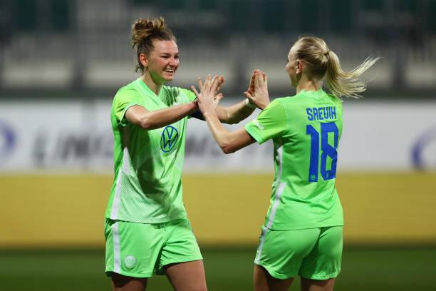 DEU: VfL Wolfsburg Women's v LSK Kvinner  - Women's UEFA Champions League Round Of 16 Leg One