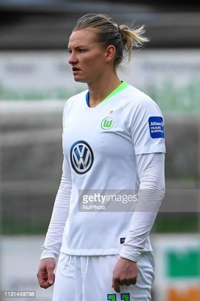Alexandra Popp of Vfl Wolfsburg during the Allianz Frauen Bundesliga football match between SC Freiburg and Vfl Wolfsburg at Mslestadion on March 17...