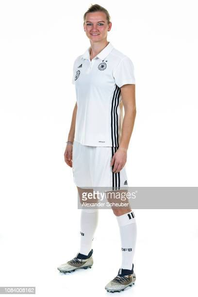 Alexandra Popp poses during the Germany Women's portrait session on January 17 2019 in Marbella Spain