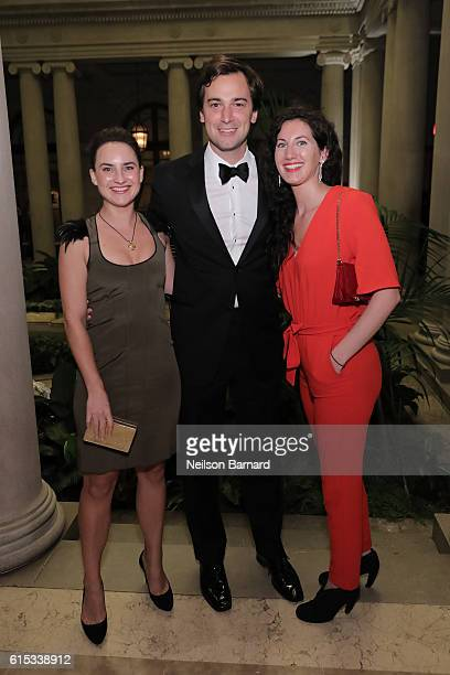 Alexandra Porter Cody Kittle and Charlotte Lowrey attend the 2016 Frick Collection Autumn Dinner honoring Edmund De Waal at The Frick Collection on...