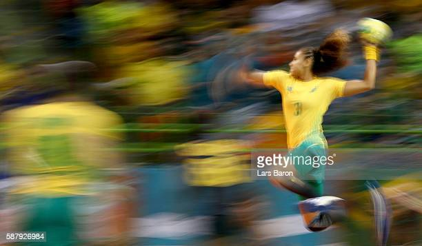 Alexandra Priscila Martinez of Brazil in action during the Womens Preliminary Group A match between Brazil and Spain at Future Arena on August 10,...