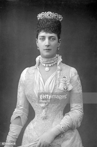 Alexandra Queen Consort of Edward VII of Great Britain when Princess of Wales Photograph published c1890 Woodburytype London