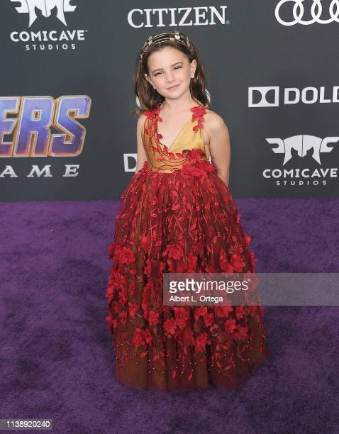 Alexandra Rabe arrives for the World Premiere Of Walt Disney Studios Motion Pictures Avengers Endgame held at Los Angeles Convention Center on April...