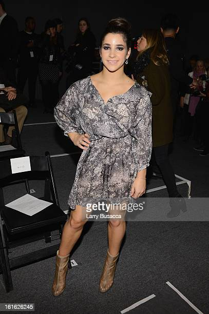 Alexandra Raisman attends the Rachel Zoe Fall 2013 fashion show during MercedesBenz Fashion Week at The Studio at Lincoln Center on February 13 2013...