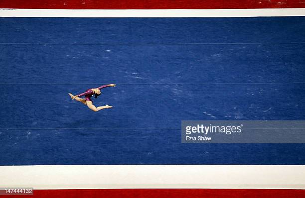 Alexandra Raisman competes on the floor exercise during day 2 of the 2012 US Olympic Gymnastics Team Trials at HP Pavilion on June 29 2012 in San...