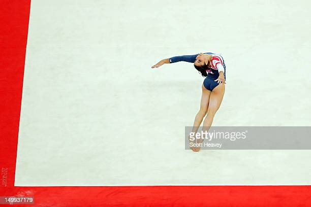 Alexandra Raisman of the United States competes in the Artistic Gymnastics Women's Floor Exercise final on Day 11 of the London 2012 Olympic Games at...