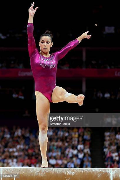 Alexandra Raisman of the United States competes on the balance beam in the Artistic Gymnastics Women's Individual AllAround final on Day 6 of the...