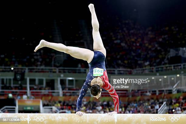 Alexandra Raisman of the United States competes on the balance beam during Women's qualification for Artistic Gymnastics on Day 2 of the Rio 2016...