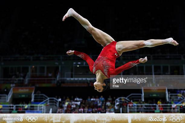 Alexandra Raisman of the United States competes on the balance beam during the Women's Individual All Around Final on Day 6 of the 2016 Rio Olympics...