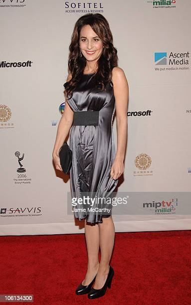 Alexandra Rapaport during The 34th International Emmy Awards Gala Arrivals at New York Hilton in New York City New York United States