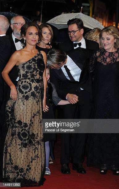Alexandra Rapaport Viola Jacobsen Mikkelsen actor Mads Mikkelsen and Susse Wold attend the 'Jagten' Premiere during the 65th Annual Cannes Film...