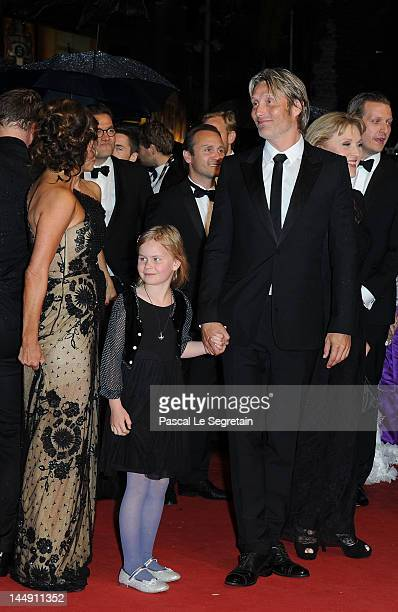 Alexandra Rapaport Viola Jacobsen Mikkelsen actor Mads Mikkelsen and Susse Wold attend the Jagten Premiere during the 65th Annual Cannes Film...