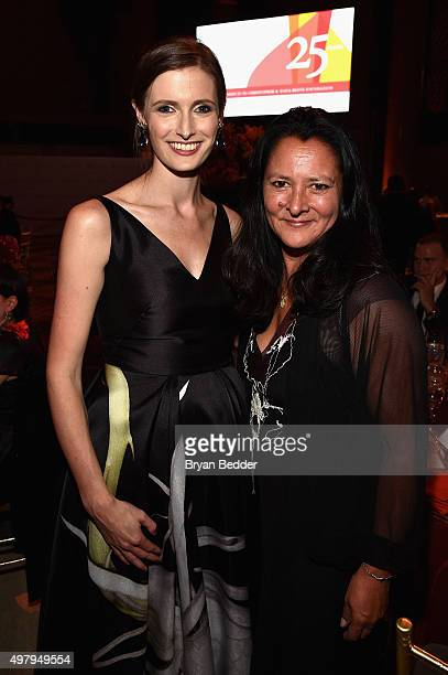 Alexandra Reeve Givens and Marsha Garces attend The Christopher Dana Reeve Foundation 25th Anniversary 'A Magical Evening' Gala on November 19 2015...