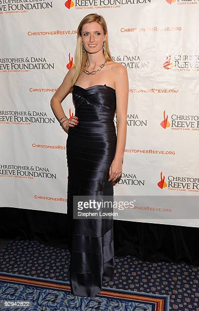 Alexandra Reeve Givens attends The Christopher and Dana Reeve Foundation's A Magical Evening gala at the Marriot Marquis on November 9 2009 in New...