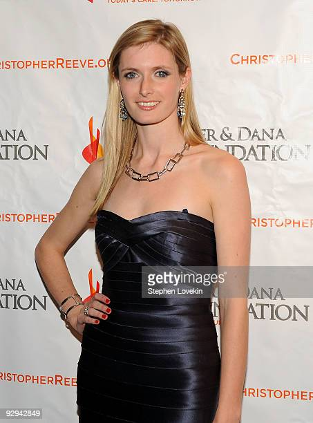 Alexandra Reeve Givens attends The Christopher and Dana Reeve Foundation's 'A Magical Evening' gala at the Marriot Marquis on November 9 2009 in New...