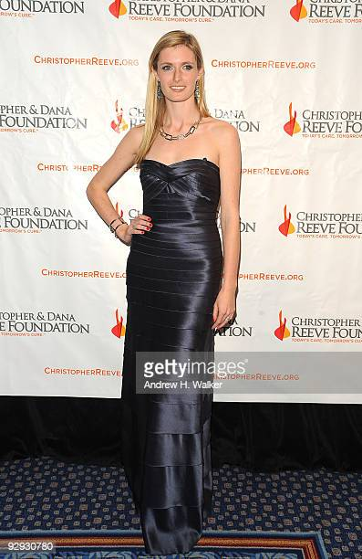 Alexandra Reeve Givens attends the Christopher Dana Reeve Foundation 19th Annual 'A Magical Evening' Gala at the Marriott Marquis on November 9 2009...