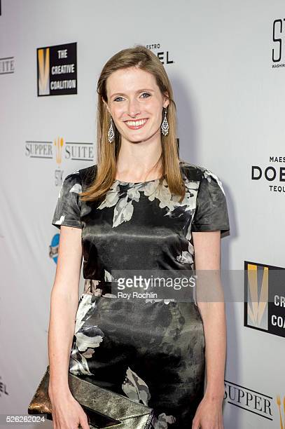 Alexandra Reeve Givens attends The Creative Coalition's Night Before Dinner at The Supper Suite by STK on April 29 2016 in Washington DC