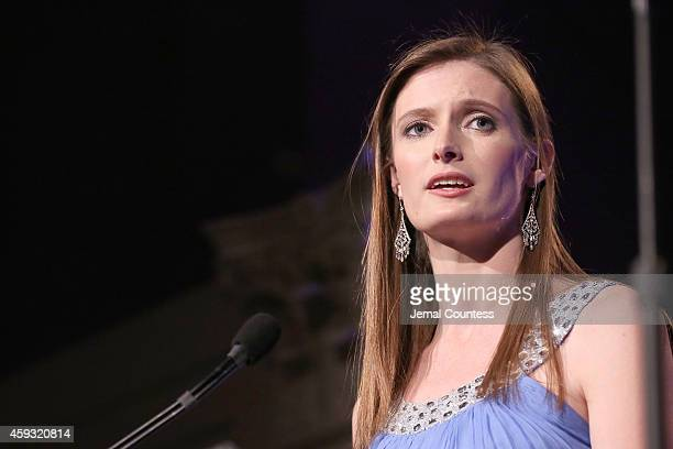 Alexandra Reeve Givens speaks on stage at The Christopher Dana Reeve Foundation A Magical Evening on November 20 2014 in New York City
