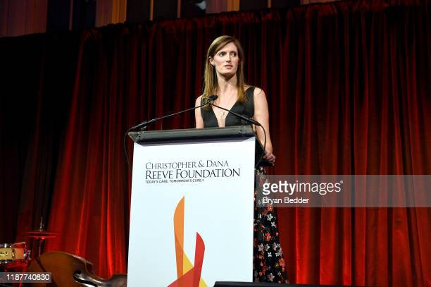 Alexandra Reeve Givens speaks onstage at the 2019 Christopher Dana Reeve Foundation Gala at Cipriani South Street on November 14 2019 in New York City