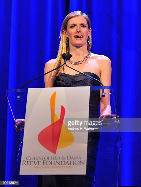 Alexandra Reeve Givens speaks onstage at the Christopher Dana Reeve Foundation 19th Annual 'A Magical Evening' Gala at the Marriott Marquis on...